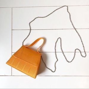 Urban Outfitters Super Mini Trapezoidal Orange Bag